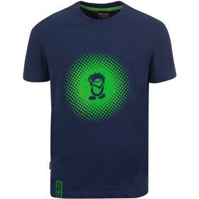 TROLLKIDS Pointillism T-shirt Kinderen, navy/viper green